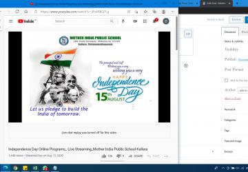 Online Celebration of Independence day 2020